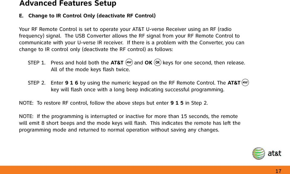 Table of Contents Function Keys of Your RF Remote Control
