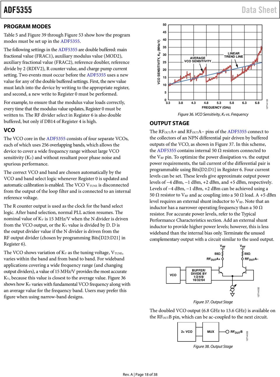 Microwave Wideband Synthesizer With Integrated Vco Adf Pdf How To Use Buffer For Isolating Oscillator Circuits Output R Counter Value And Charge Pump Current Setting Two Events Must Occur Before The