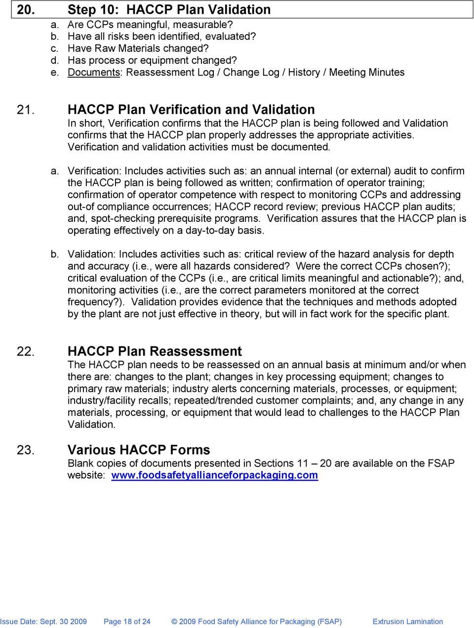 Haccp Hazard Analysis And Critical Control Points A Food Safety