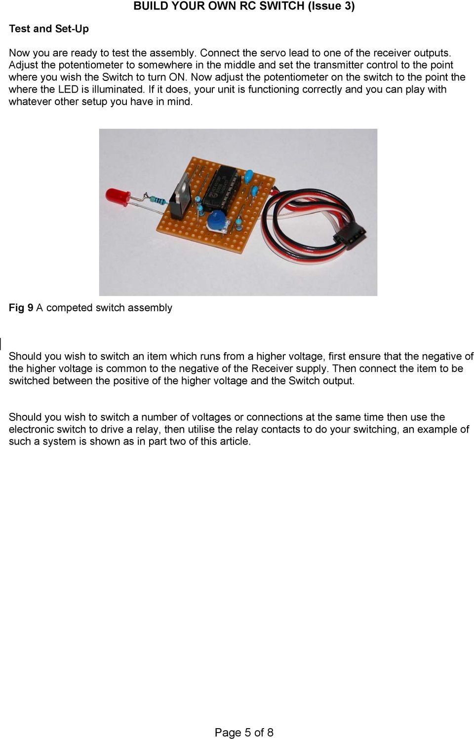 Build Your Own Rc Switch Issue 3 Pdf Where You Circuit The Used In These Examples Is A Now Adjust Potentiometer On To Point Led Illuminated