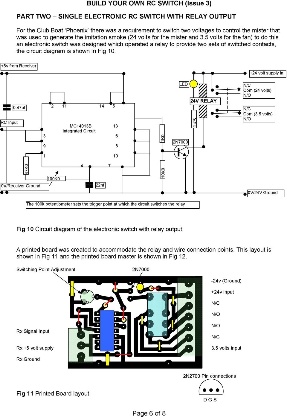Build Your Own Rc Switch Issue 3 Pdf Make This Electronic Mosquito Repeller Circuit Diagram 5v From Receiver 24 Volt Supply In Input 047uf 2 11 14
