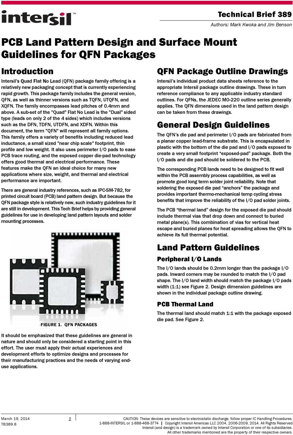 PCB Land Pattern Design and Surface Mount Guidelines for QFN