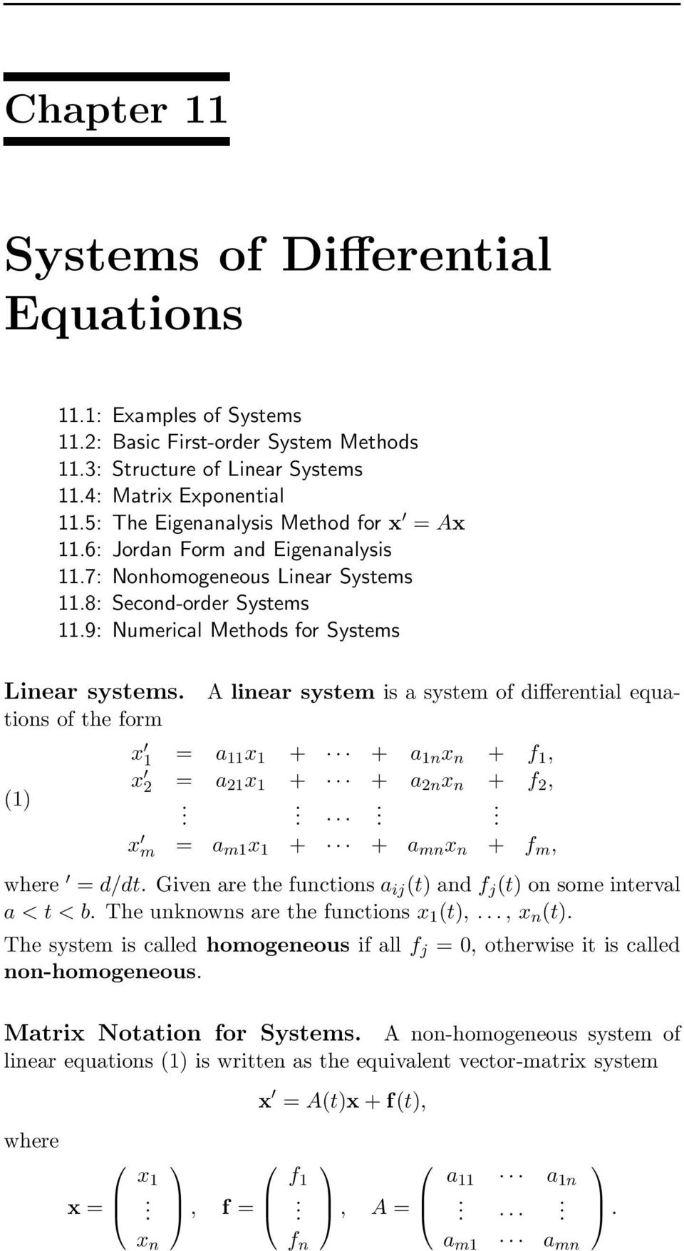 Systems of Differential Equations - PDF