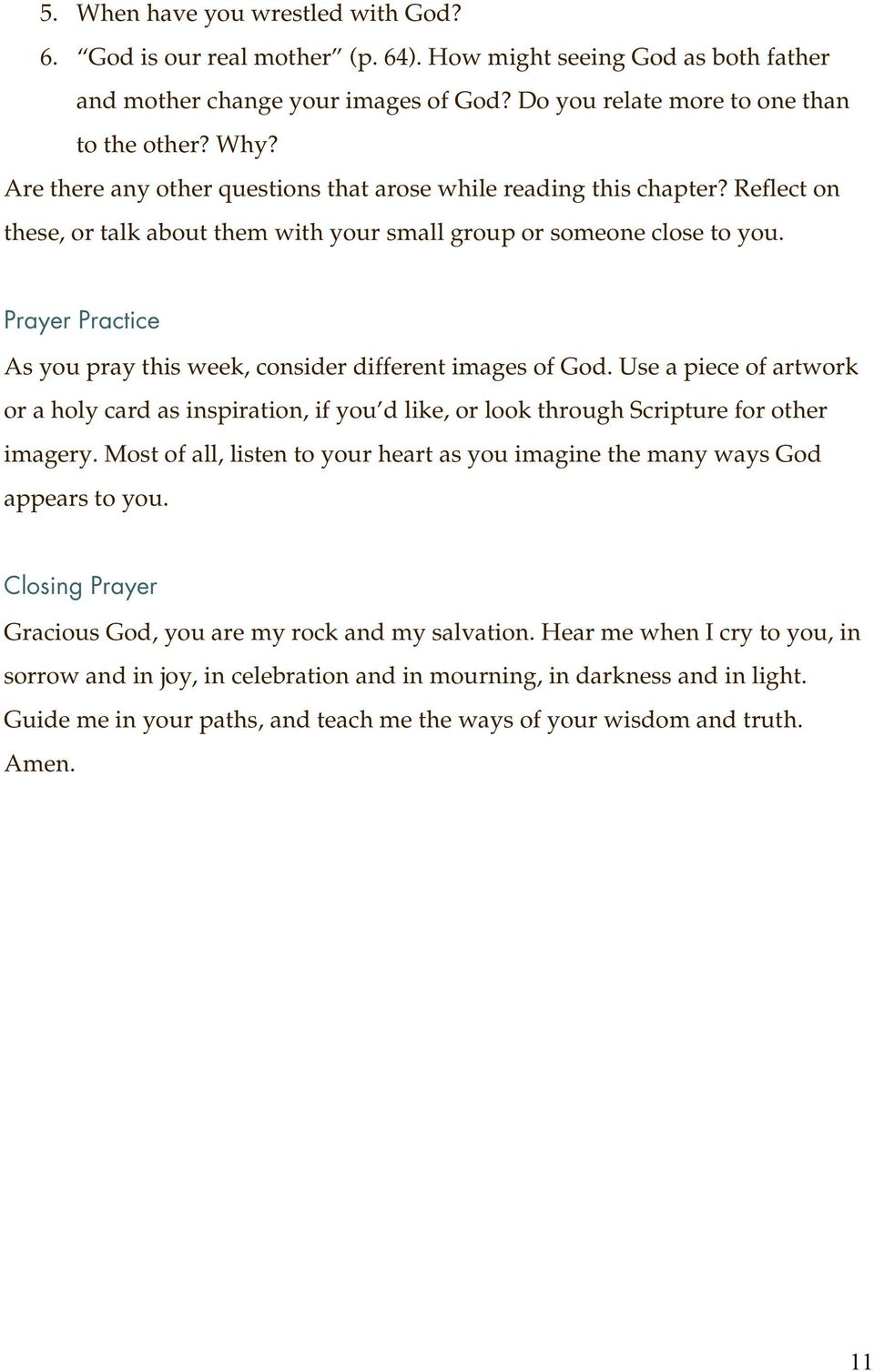 Introduction  A Study Guide for Prayer: Our Deepest Longing