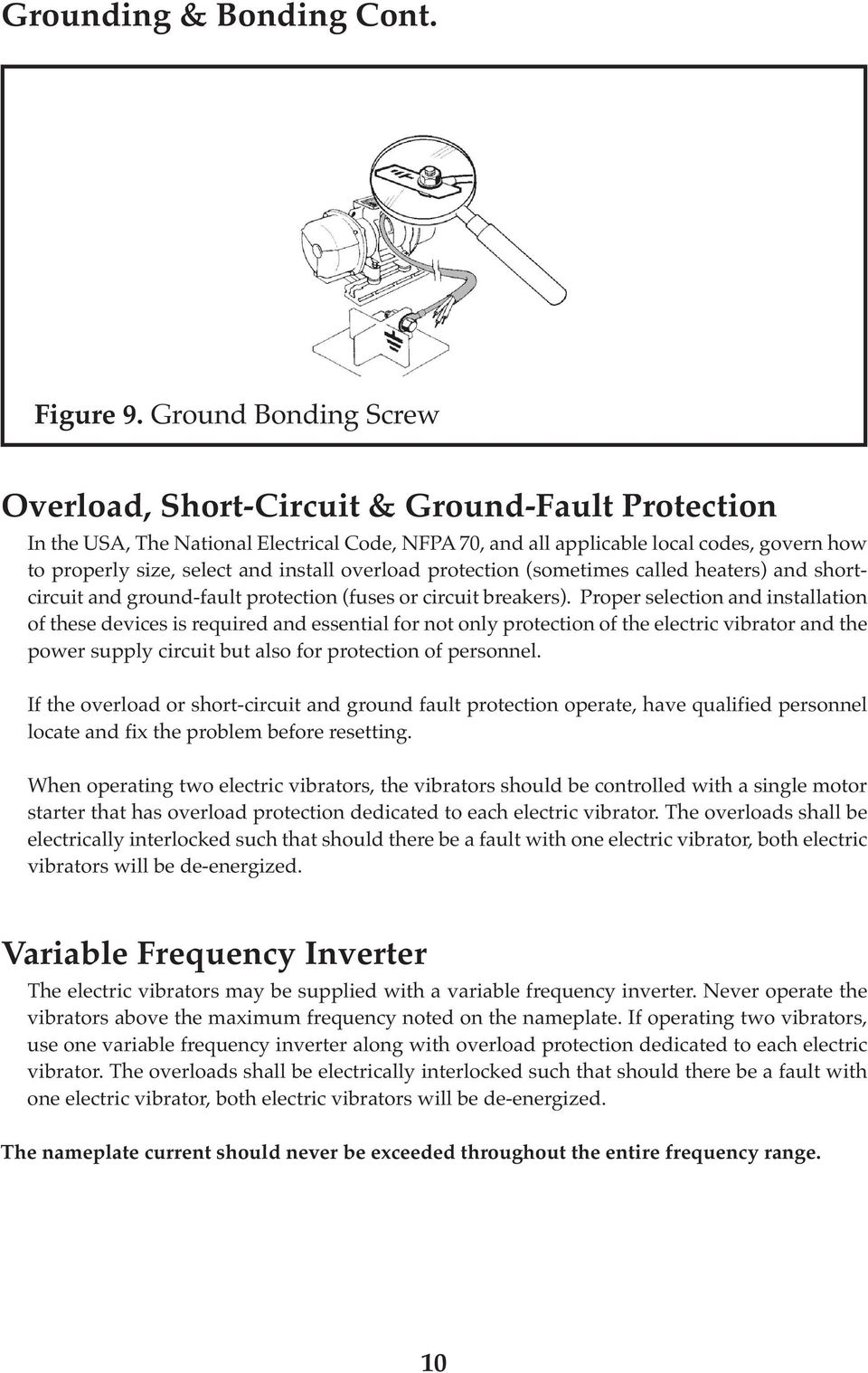 Italvibras Usa Operator S Manual Pdf Protection From The Shortcircuit And Groundfault Device Install Overload Sometimes Called Heaters Ground Fault