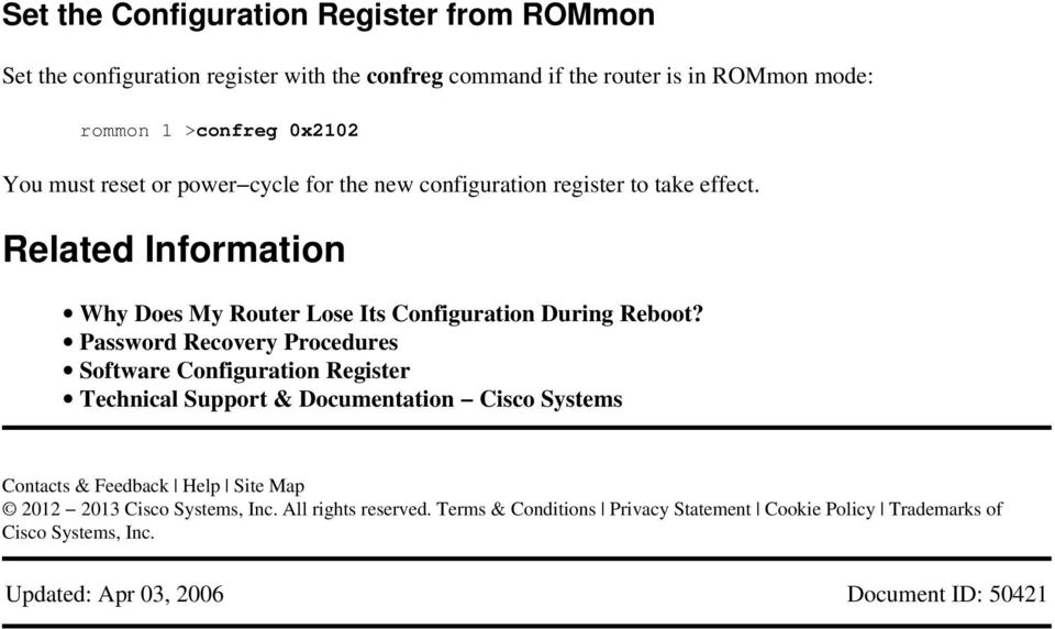 Cisco 3650 Rommon Mode Recovery