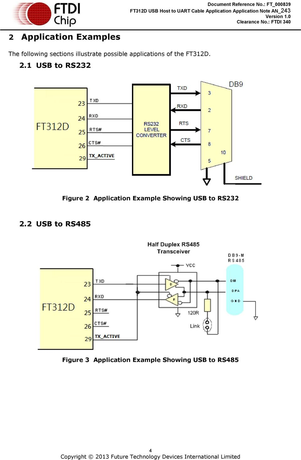 Ftdi Schematic Db9 Cable Application Note An Usb Host To Uart Pdf 960x1469