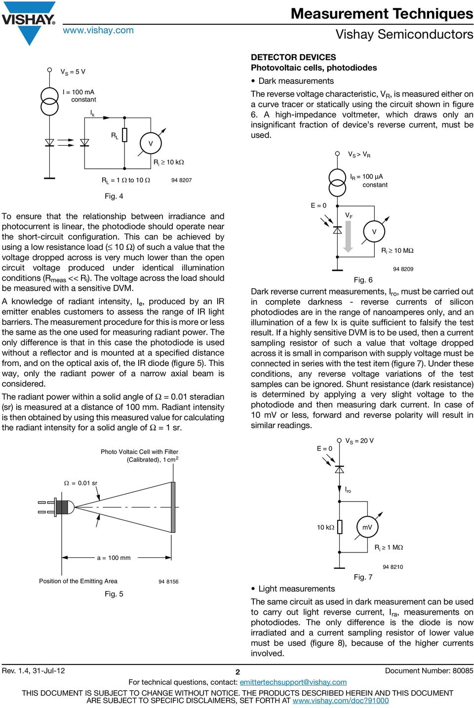 Measurement Techniques Pdf Bpw34 Photodiode Circuit 4 R I 1 K To Ensure That The Relationship Between Irradiance And Photocurrent Is Linear