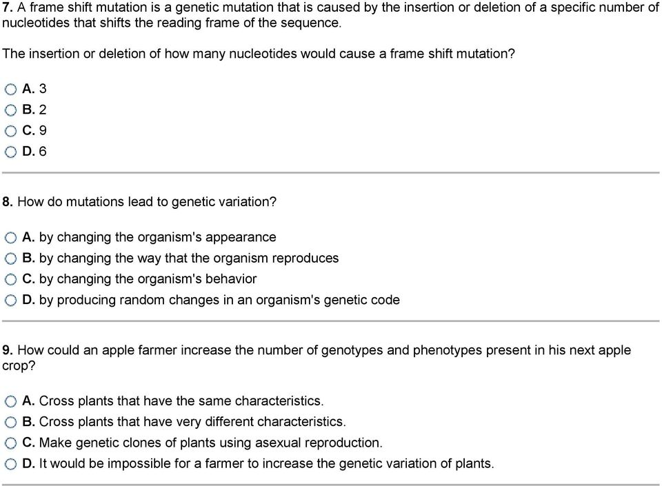 Mutations And Genetic Variability 1 What Is Occurring In The