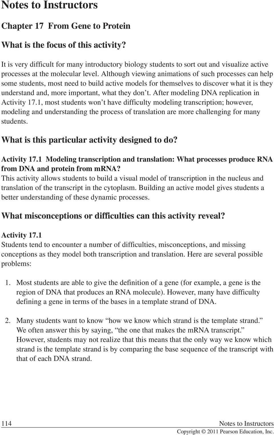 What are the particular activities designed to do? - PDF