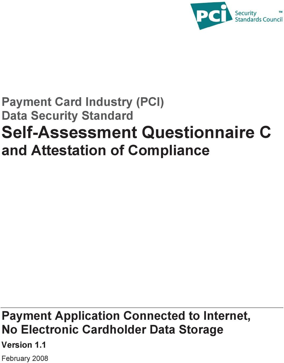 Compliance Payment Application Connected to Internet,