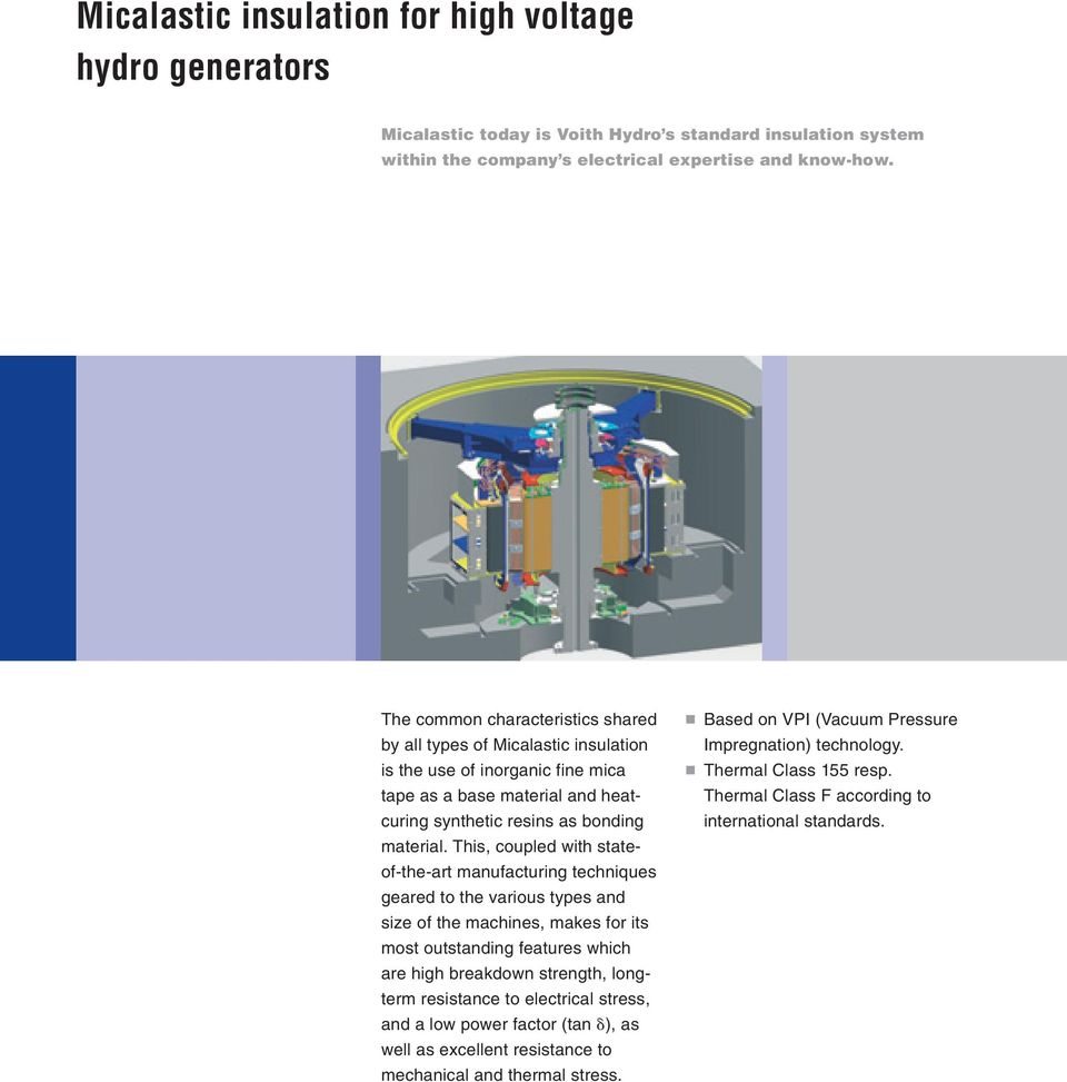 Micalastic Insulation For High Voltage Hydro Generators Pdf Hydroelectric Generator Diagram This Coupled With Stateof The Art Manufacturing Techniques Geared To Various Types