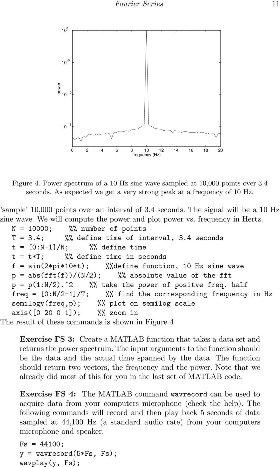 Computing Fourier Series and Power Spectrum with MATLAB - PDF