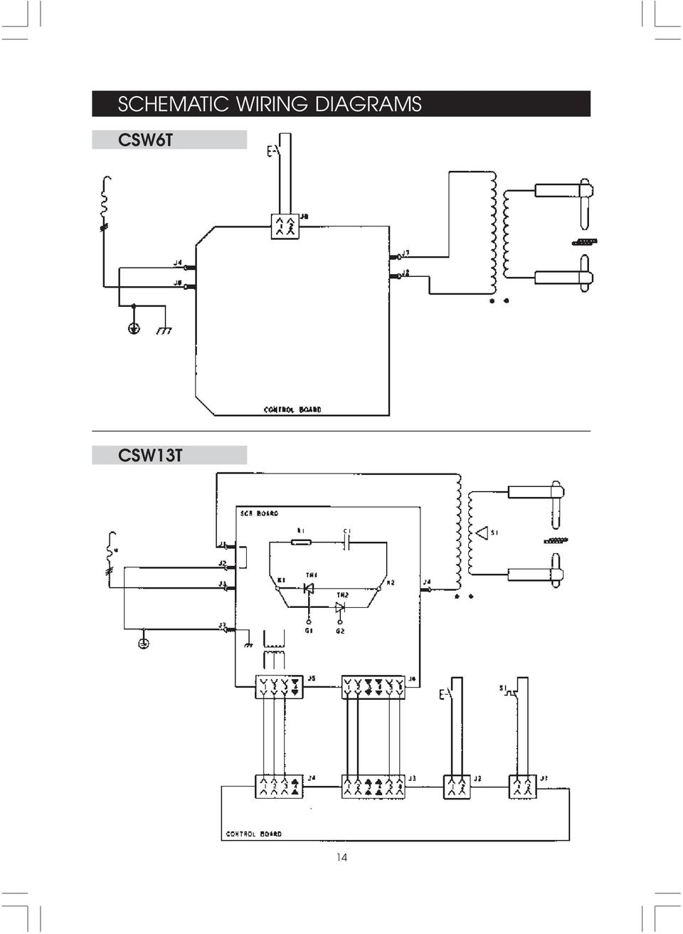 Spot Welder Operating Maintenance Instructions Models Csw6t Resistance Welding Block Diagram Diagrams