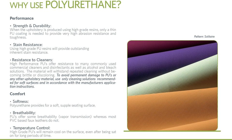 A GUIDE TO HIGH PERFORMANCE POLYURETHANE UPHOLSTERY FABRICS
