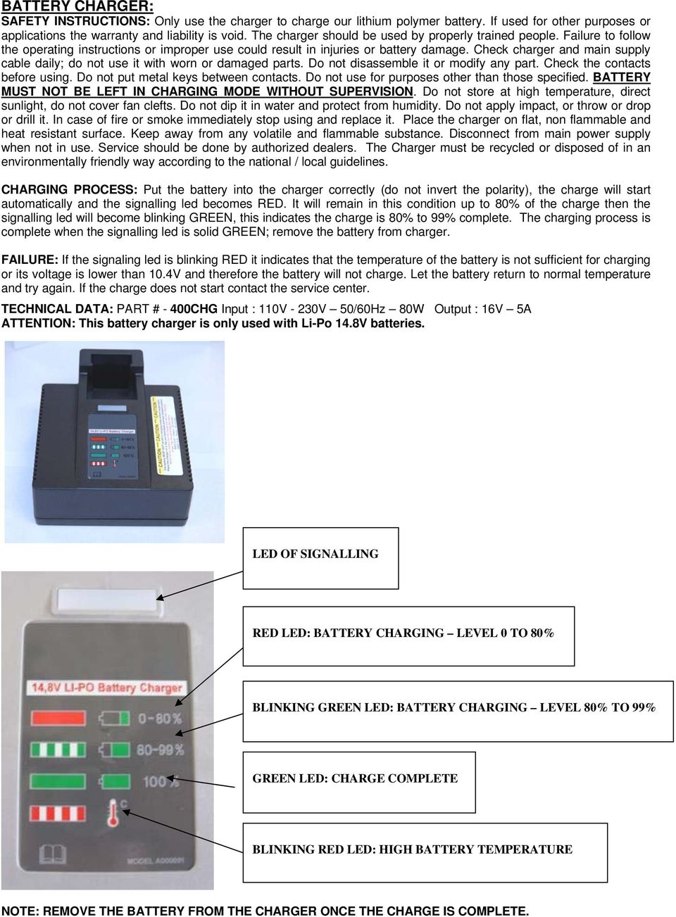 POLYCHEM OPERATION MANUAL SPARE PARTS LIST B800 BATTERY POWERED
