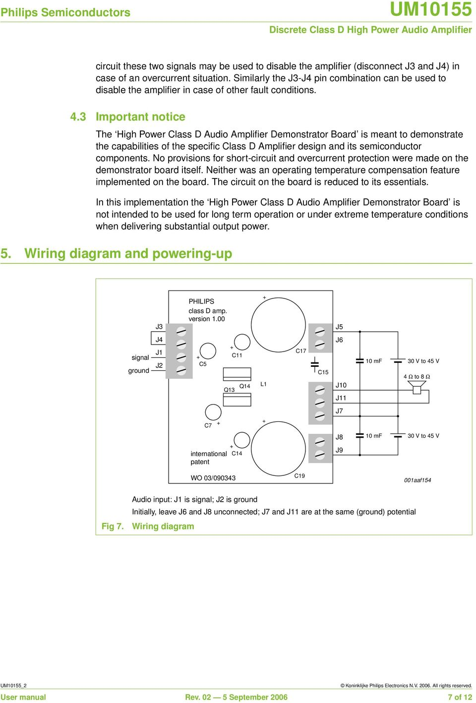 Um Discrete Class D High Power Audio Amplifier Document Information Circuit Diagram 3 Important Notice The Demonstrator Board Is Meant To Demonstrate