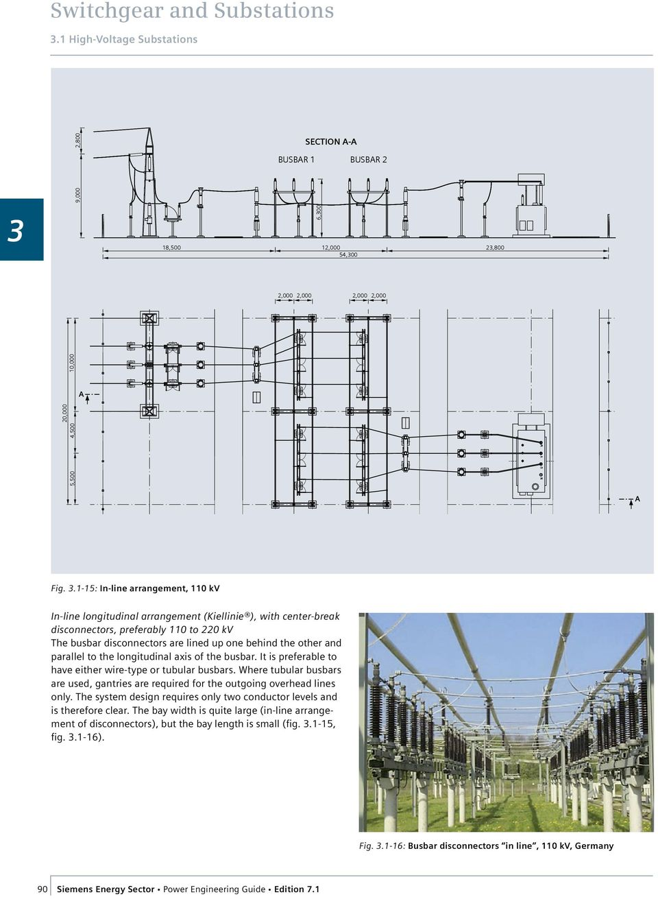 80 Siemens Energy Sector Power Engineering Guide Edition Pdf Wiring Diagram Distribution And Parallel To The Longitudinal Axis Of Busbar It Is Preferable Have Either