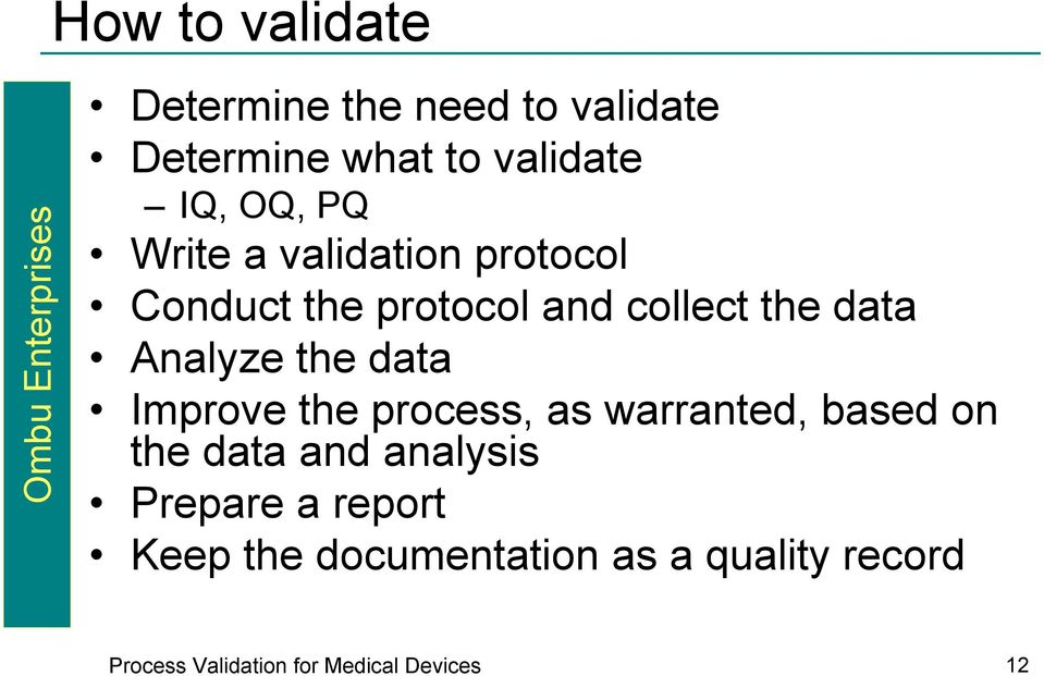 Process Validation for Medical Devices - PDF