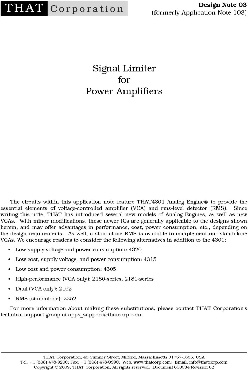 Signal Limiter For Power Amplifiers Pdf National Lm386 Audio Amplifier Datasheet Battery Operation With Minor Modifications These Newer Ics Are Generally Applicable To The Designs Shown Herein