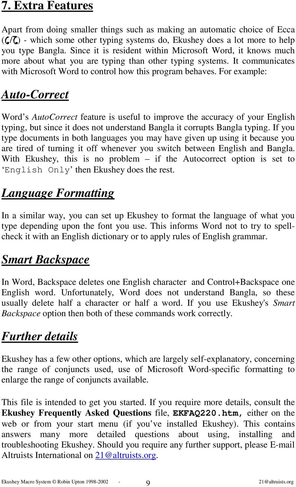 Easy Bangla Typing for MS-Word! - PDF