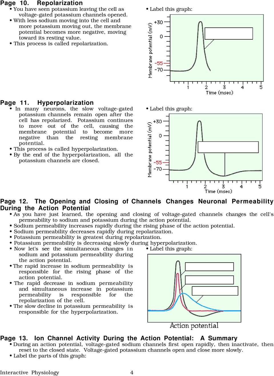 The Action Potential Graphics Are Used With Permission Of Adam Com Benjamin Cummings Publishing Co Pdf Free Download