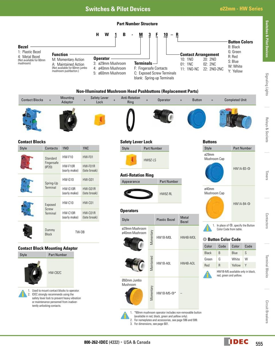 Switches Pilot Devices Pdf Cat 5 Diagram Urmet China Mounting Adaptor Contact Blocks Contacts N Nc Standard Fingersafe Ip Spring Up