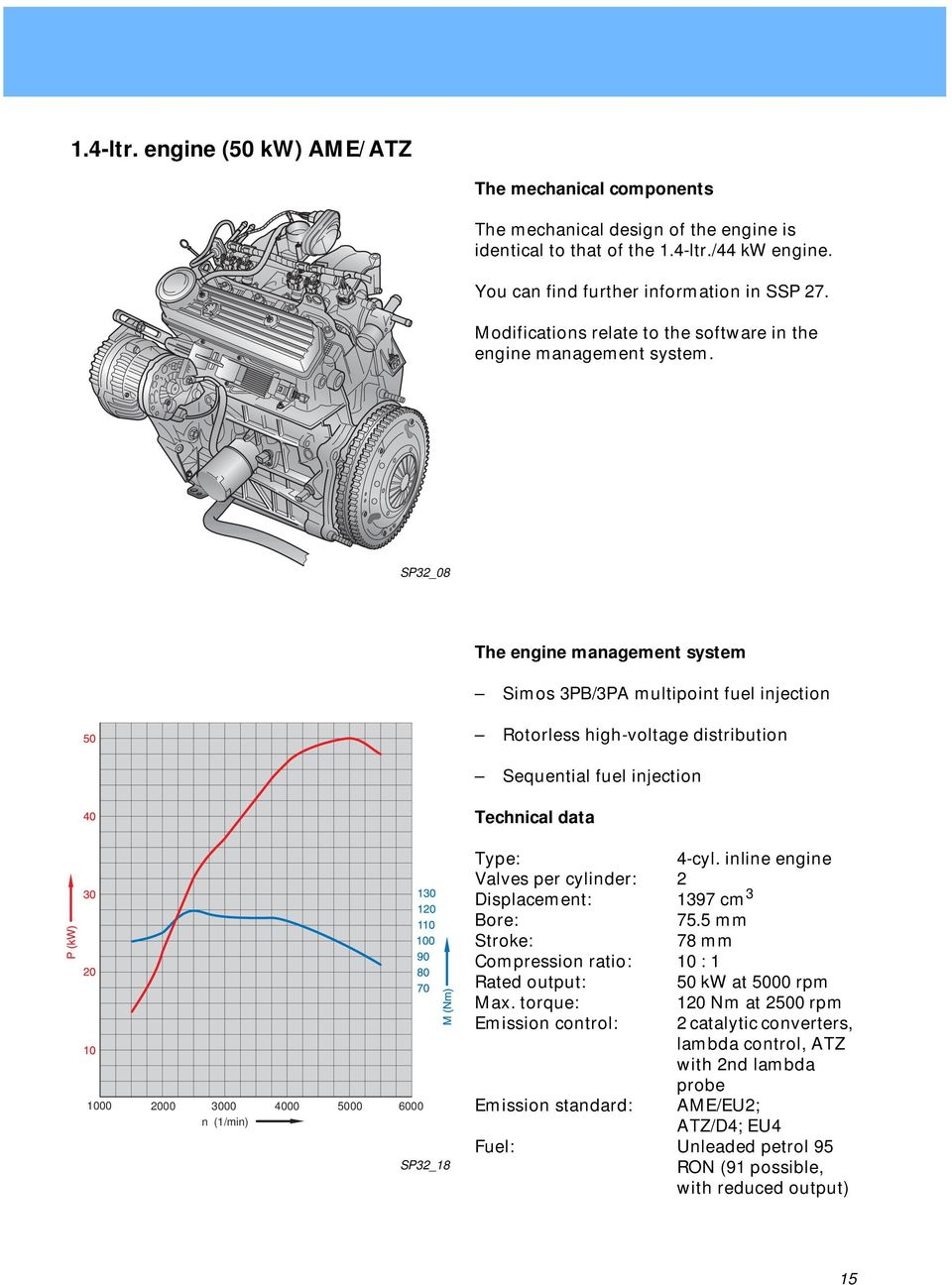 Engine Gearbox Combinations Pdf 4 2 Diagram Sp32 08 The Management System Simos 3pb 3pa Multipoint Fuel Injection Rotorless High Voltage