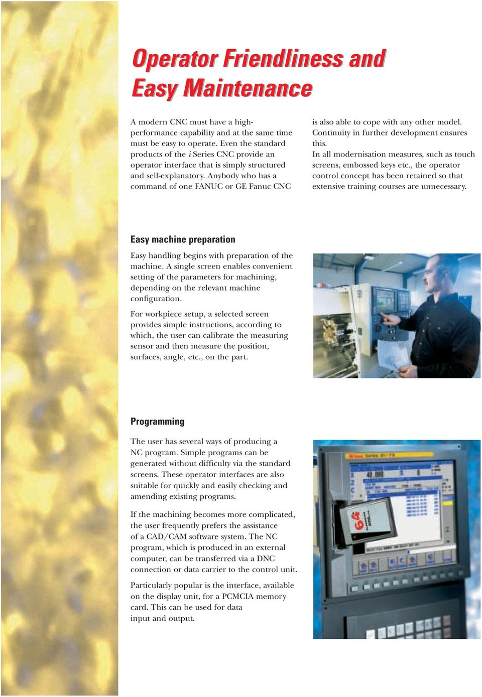 i Series CNC Precise, Fast and Reliable CNCs - PDF