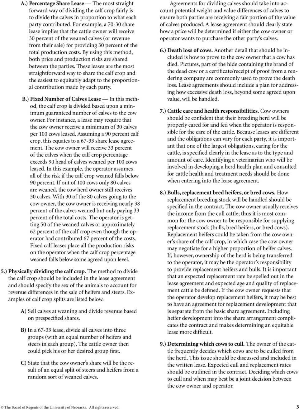 Beef Cow Share Lease Agreements Pdf