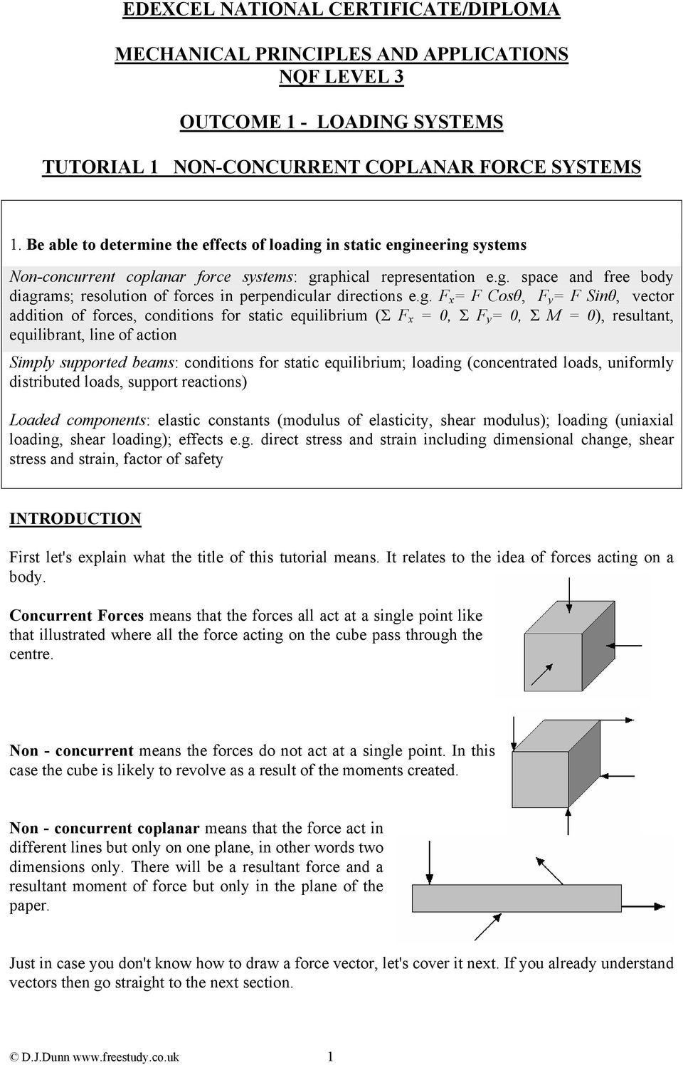 EDEXCEL NATIONAL CERTIFICATE/DIPLOMA MECHANICAL PRINCIPLES
