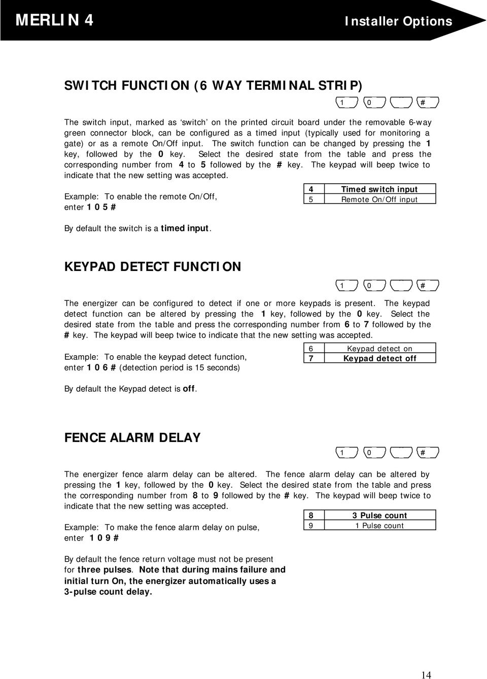 Electric Fence Energiser Pdf Mains Powered Energizers Select The Desired State From Table And Press Corresponding Number 4 To 5