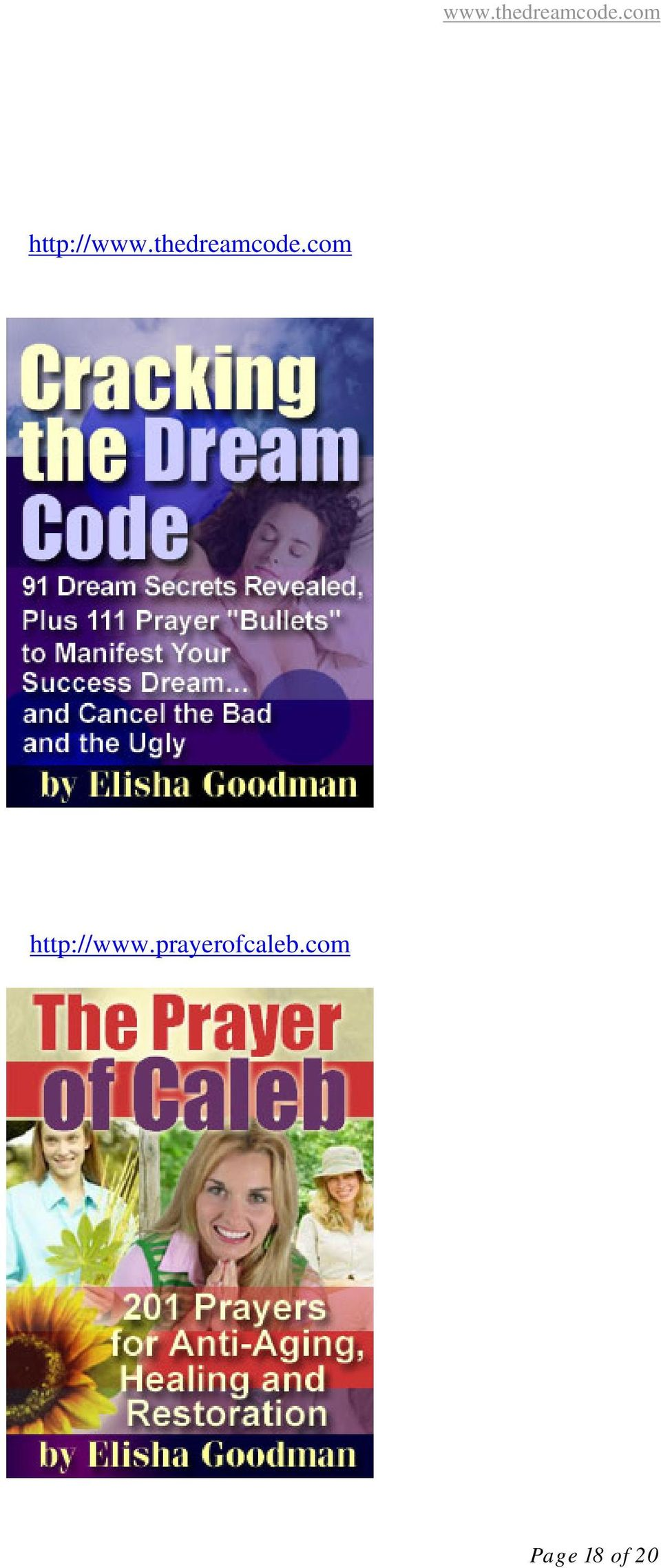 Special Report  40 Common Dreams Plus 101 Prayers To Deal With Them