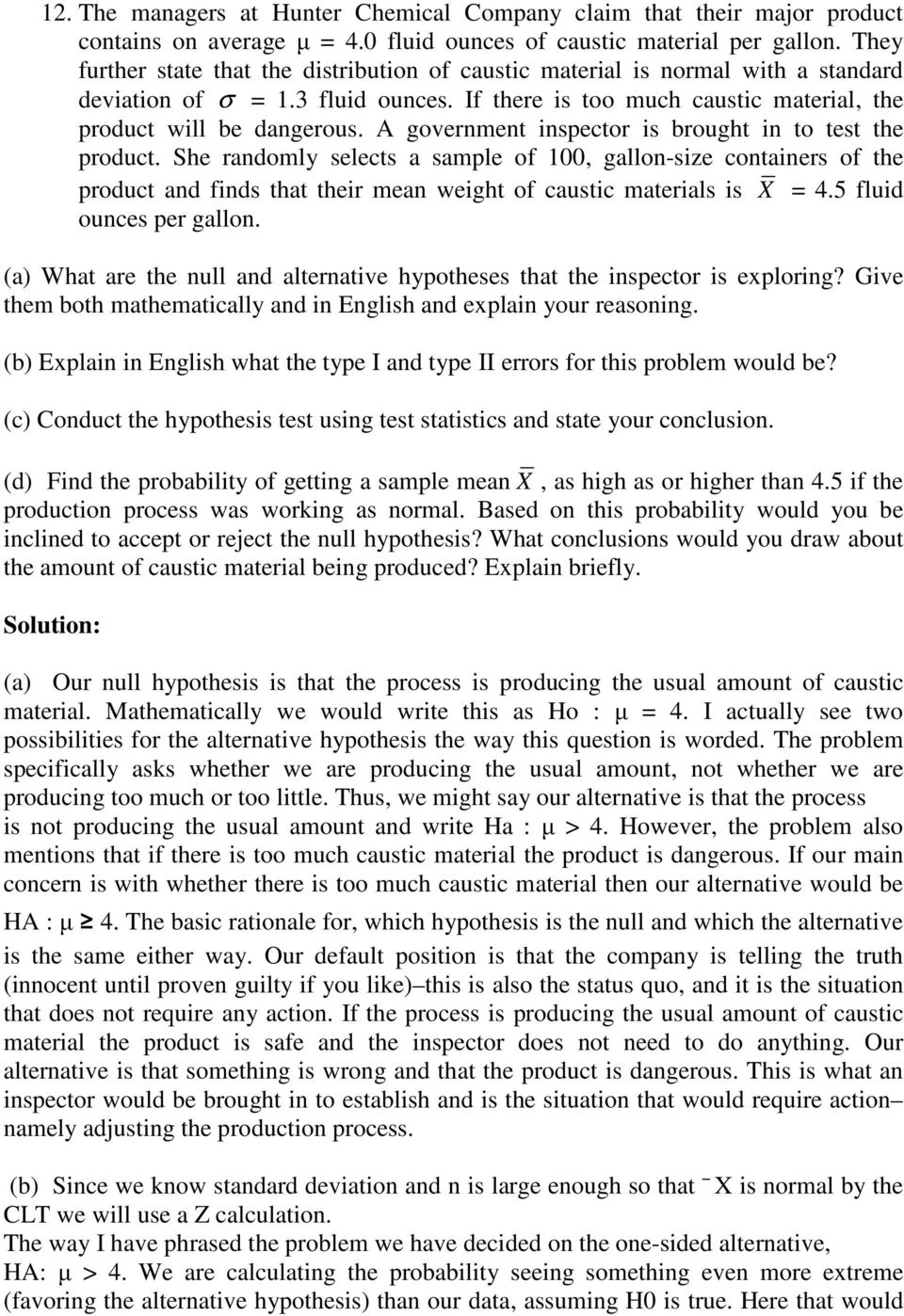 Solutions To Questions On Hypothesis Testing And Regression Pdf Free Download [ 1398 x 960 Pixel ]