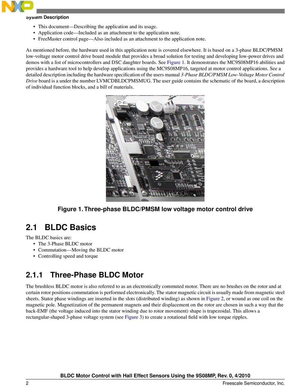 BLDC Motor Control with Hall Effect Sensors Using the 9S08MP - PDF