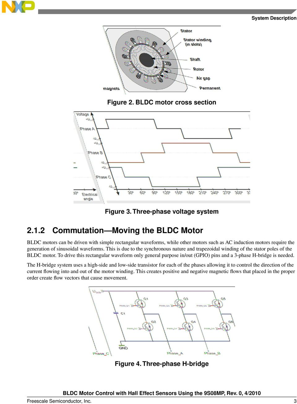 Bldc Motor Control With Hall Effect Sensors Using The 9s08mp Pdf Brushless Electric Diagram A Threephase Dc This Is Due To Synchronous Nature And Trapezoidal Winding Of Stator Poles