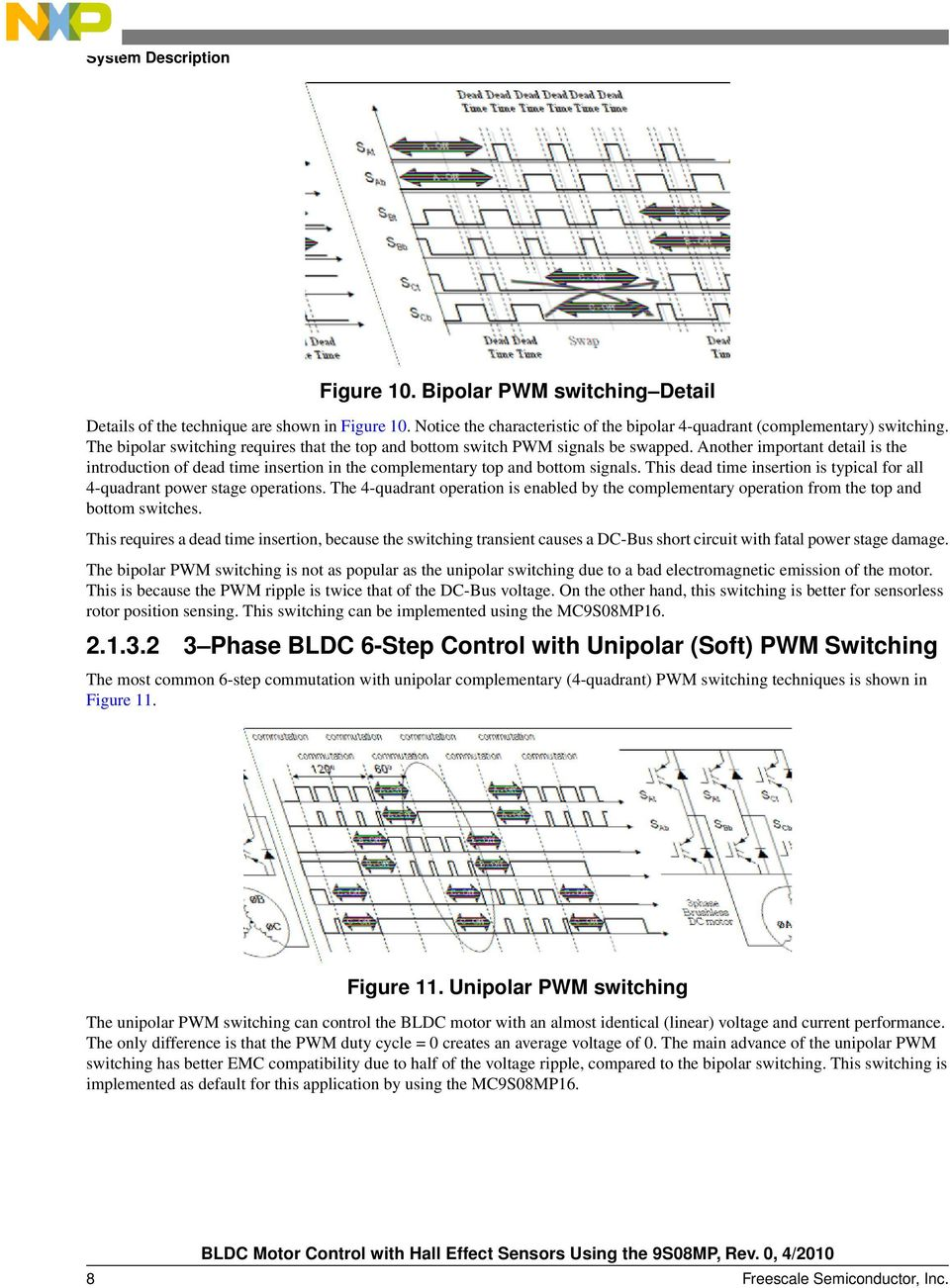 Bldc Motor Control With Hall Effect Sensors Using The 9s08mp Pdf Another Important Aspect Of Circuits And Power This Dead Time Insertion Is Typical For All 4 Quadrant Stage Operations 9 22 9s8mp6 Controller