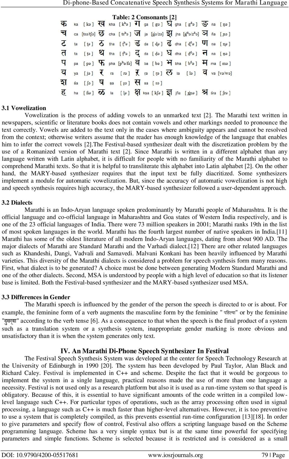 Di-phone-Based Concatenative Speech Synthesis Systems for