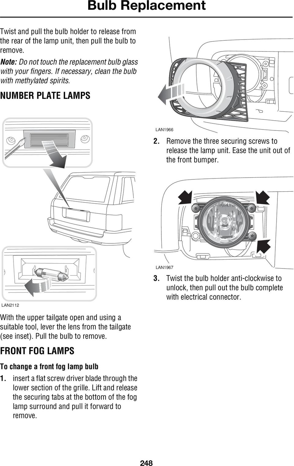 Bulb Replacement Replacing Bulbs Warning Pdf Skoda Fabia Vrs Fuse Box Diagram Twist The Holder Anti Clockwise To Unlock Then Pull Out Complete