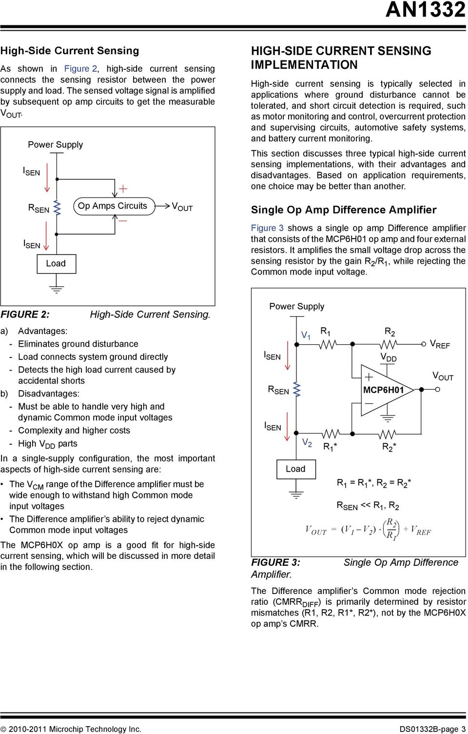 An1332 Current Sensing Circuit Concepts And Fundamentals The Is Determined By Formula Out V Vref R2 Power Supply Hih Side Sensin Implementation High Typically Selected