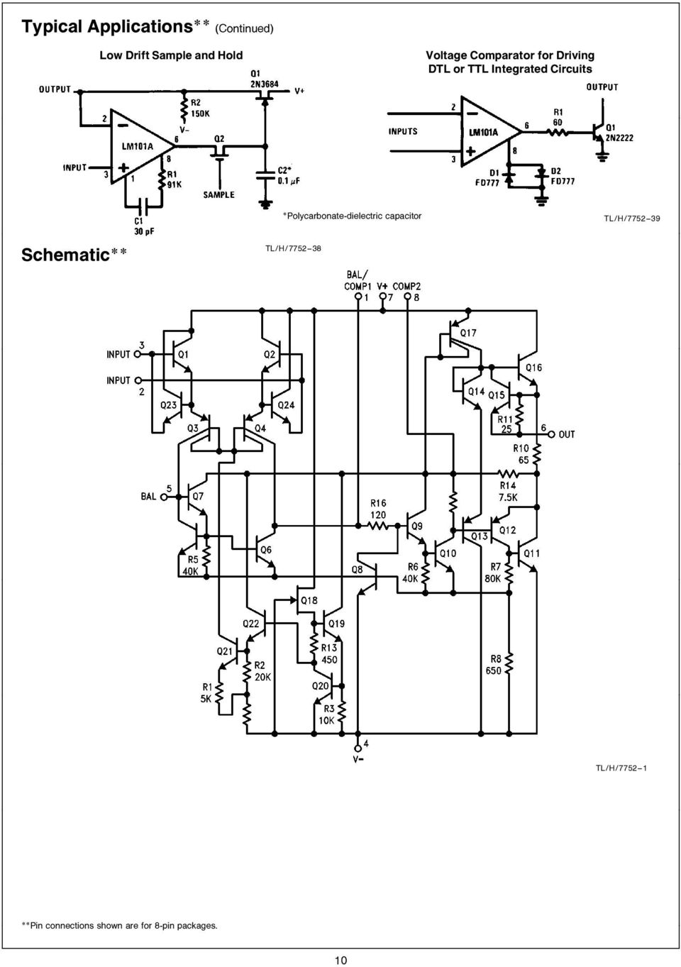 Polycarbonate-dielectric capacitor TL H 7752 39 Schematic TL H