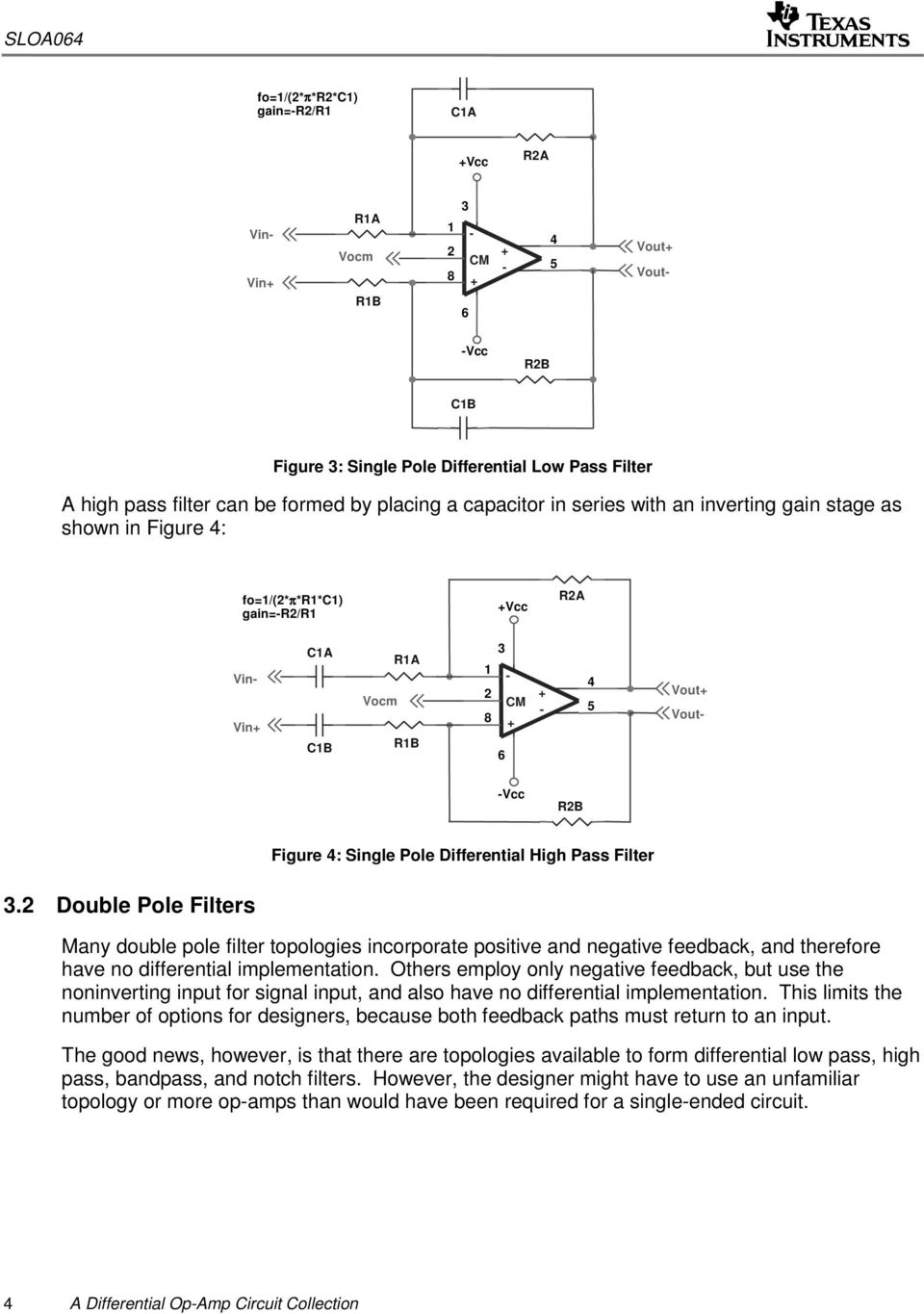 Opamp And Level Meter Circuits Are Incorporated Into A Mixing Circuit Differential Op Amp Collection Pdf Double Pole Filters Many Filter Topologies Incorporate Positive Negative Feedback Therefore
