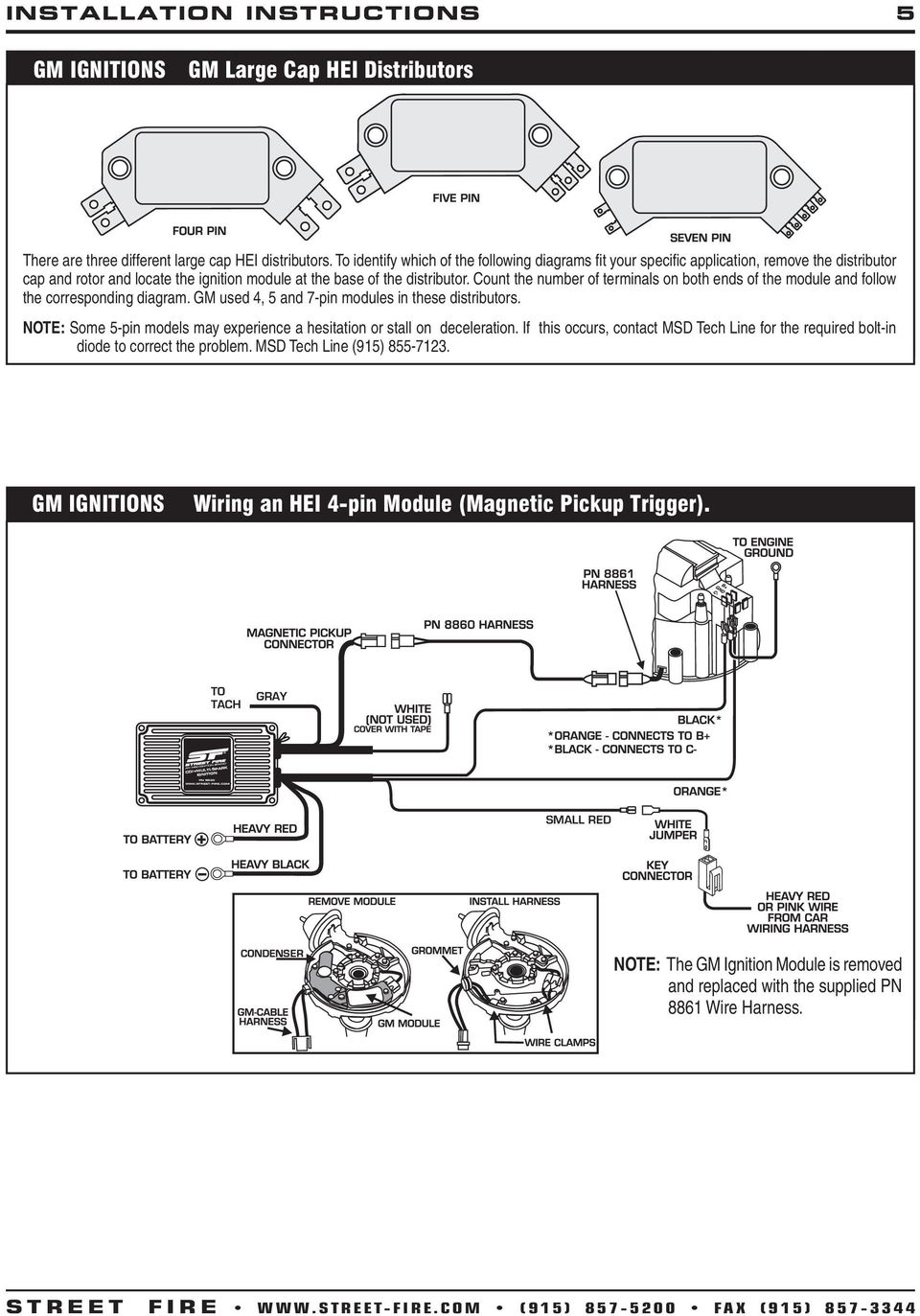 Street Fire Cdi Pn Ground Wire 1 100v 1a Diode Pdf Msd Ignition Pertronix Ignitor Ii Wiring Diagram For Distributor Count The Number Of Terminals On Both Ends Module And Follow Corresponding