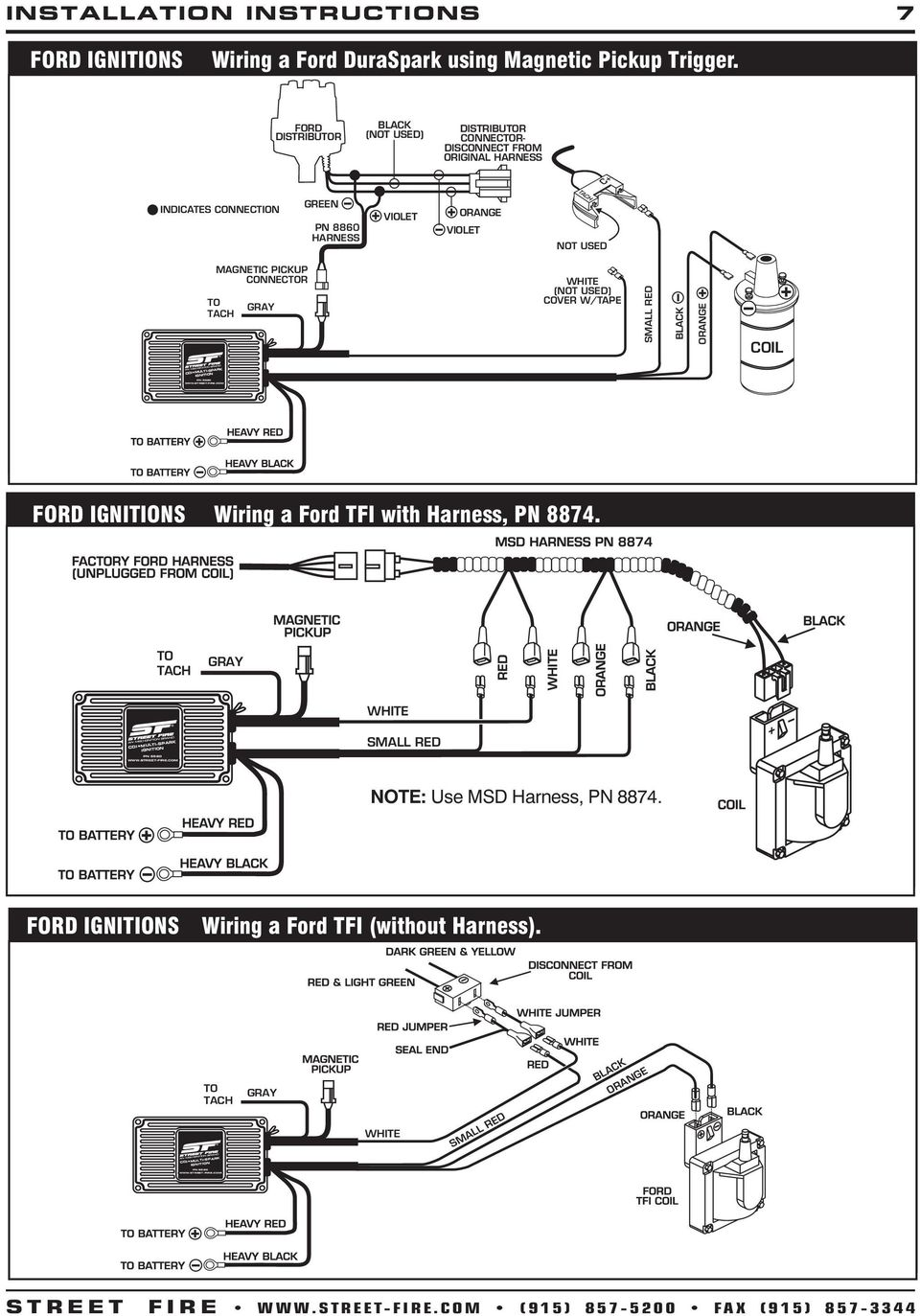 Duraspark Wiring Harness Ford To Msd Ignition Diagram Diagrams 5520 System