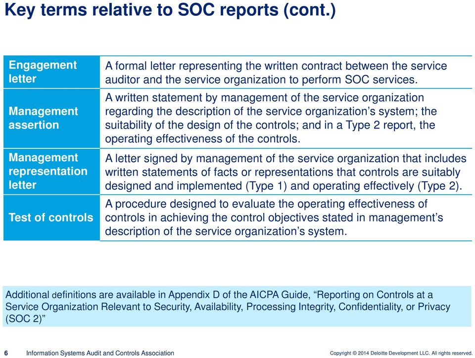 Service Organization Control (SOC) Reports Focus on SOC 2 Reporting