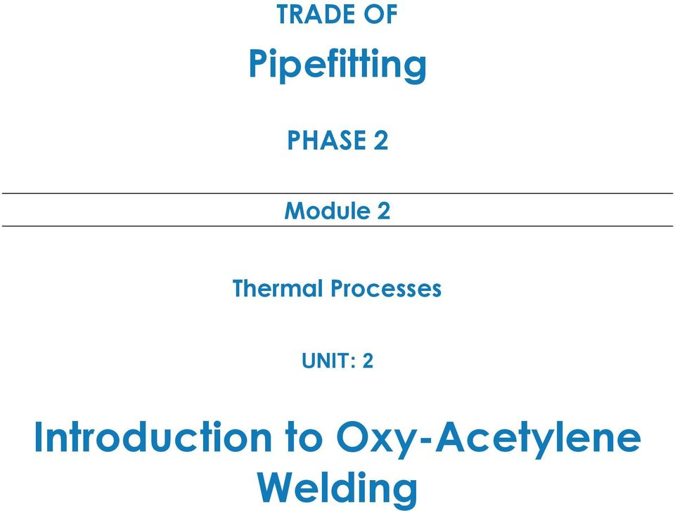 Introduction To Oxy Acetylene Welding Pdf