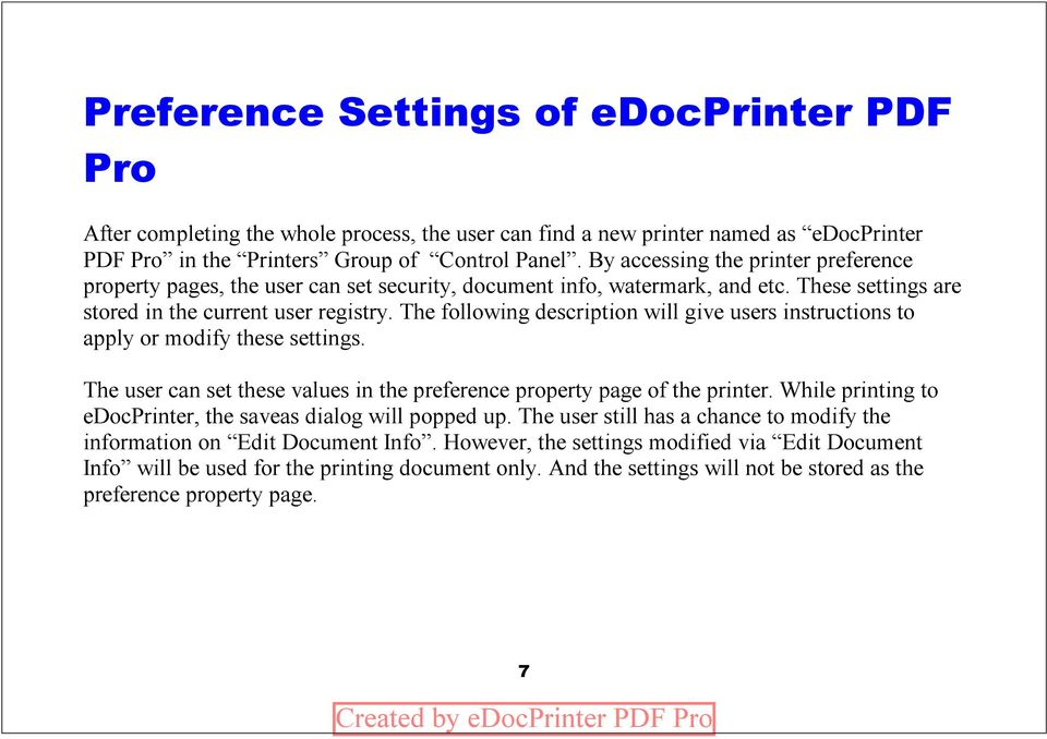 Edocprinter embedded commands for dating