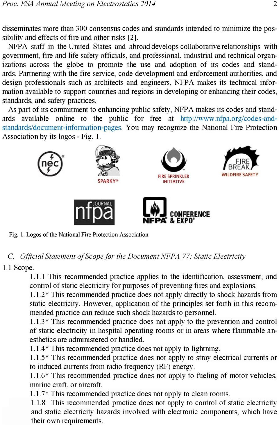Overview of the Work of NFPA 77: Technical Committee on Static