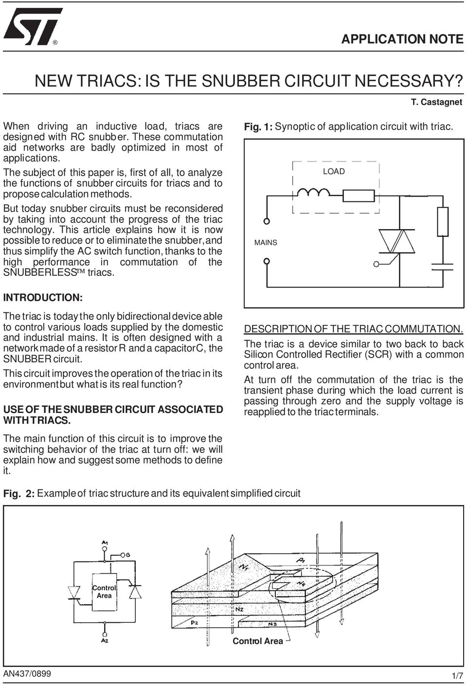 New Triacs Is The Snubber Circuit Necessary Pdf Scr And Triac Triggering With A Positive Power Supply Subject Of This Paper First All To Analyze Functions