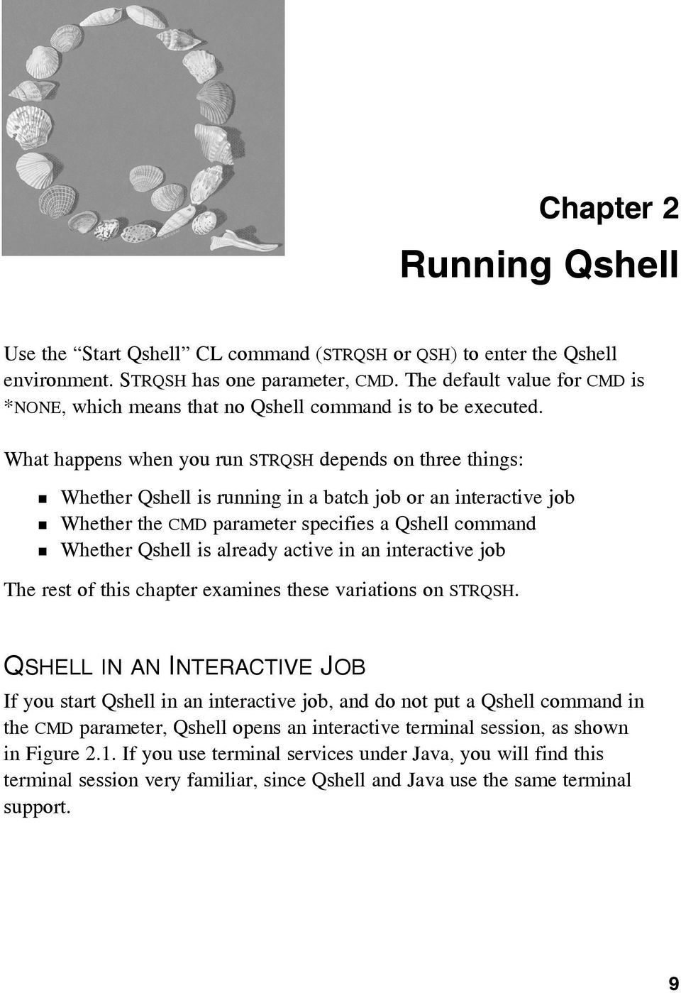 Running Qshell  Chapter 2 QSHELL IN AN INTERACTIVE JOB - PDF